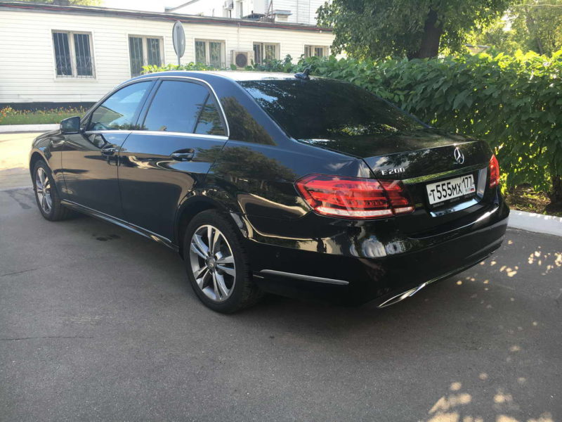 Mercedes W212 — Black - фото 2